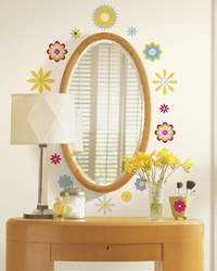 Graphic Flowers Peel  Stick Wall Decals RMK1170SCS by
