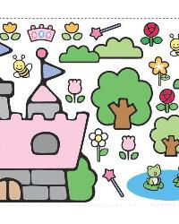 Hello Kitty Princess Castle Giant Wall Decal RMK1200GM by