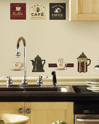 Coffee House Peel  Stick Wall Decals RMK1254SCS by