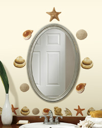 Sea Shells Peel  Stick Wall Decals RMK1259SCS by
