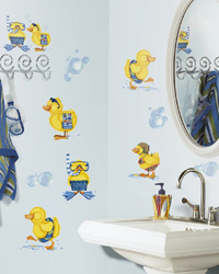 Bubble Bath Peel  Stick Wall Decals RMK1261SCS by
