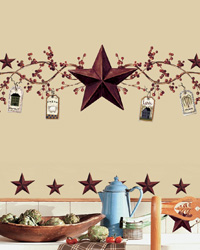 Country Stars  Berries Peel  Stick Wall Decals RMK1276SCS by