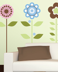 Growing Flowers Peel  Stick Wall Decals RMK1278GM by