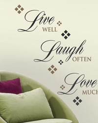 Live Love Laugh Peel  Stick Wall Decals RMK1396SCS by