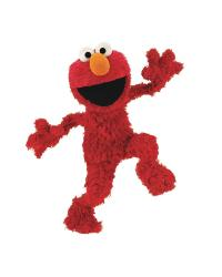 Sesame Street Elmo Peel  Stick Giant Wall Decal by