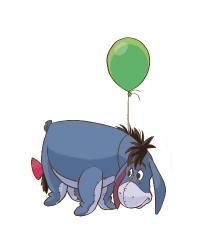 Eeyore Giant Wall Decal by