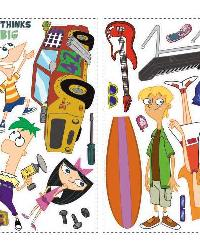 Phineas  Ferb Peel  Stick Wall Decal by