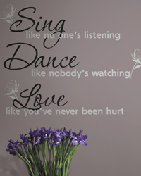 Dance Sing Love Peel  Stick Wall Decals RMK1552SCS by