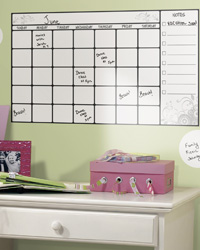 Dry Erase Calendar Peel  Stick Wall Decal RMK1556SCS by