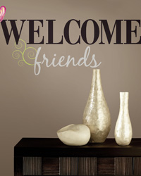 Welcome Friends Peel  Stick Wall Decals RMK1558SCS by