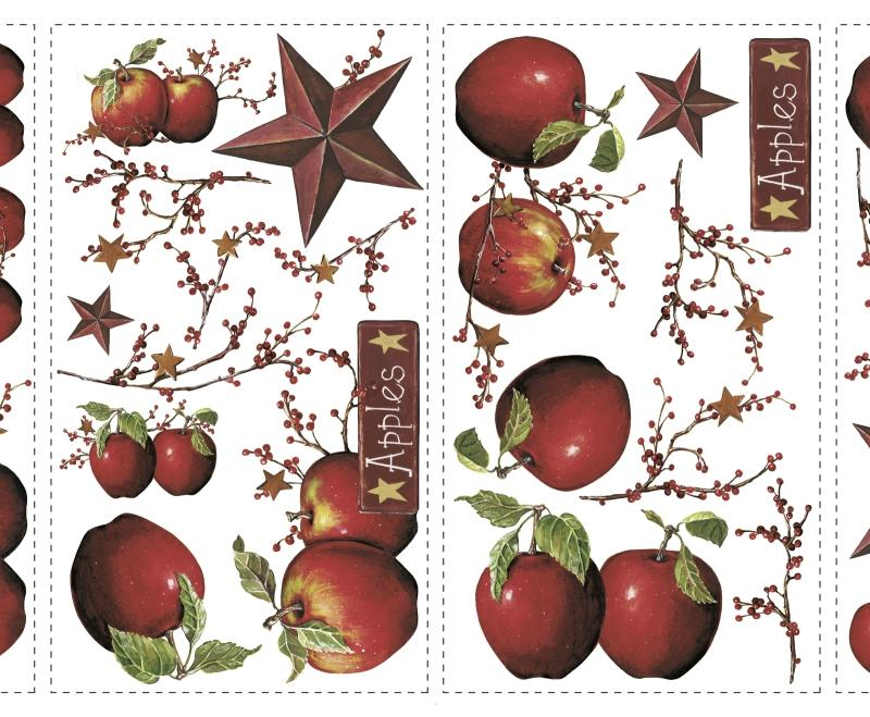 York Wallpaper Country Apples Peel Stick Wall Decals