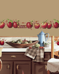 Country Apples Peel  Stick Wall Decals RMK1570SCS by