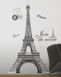 Eiffel Tower Peel  Stick Giant Wall Decal RMK1576GM by