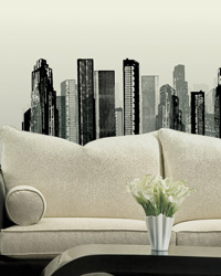 Cityscape Peel  Stick Giant Wall Decal RMK1602GM by