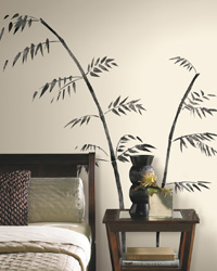 Painted Bamboo Peel  Stick Giant Wall Decal RMK1603GM by