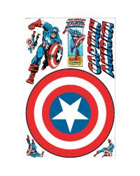 Captain America - Vintage Shield Peel  Stick Giant Wall Decal RMK1619SLG by