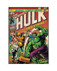 Comic Book Cover - Hulk w/Wolverine Peel  Stick Comic Book Cover RMK1661SLG by