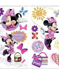 Mickey  Friends - Minnie Bow-Tique Peel  Stick Wall Decals by