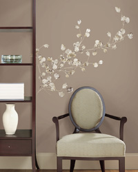 Silver Dollar Branch Peel  Stick Giant Wall Decal RMK1677GM by