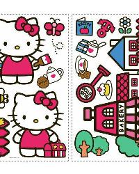 Hello Kitty - The World of Hello Kitty Peel  Stick Wall Decals by