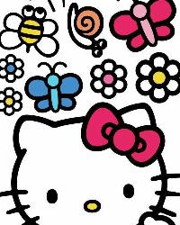 Hello Kitty - The World of Hello Kitty Peel  Stick Giant Wall Decals by
