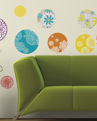 Patterned Dots Peel  Stick Wall Decals RMK1707SCS by