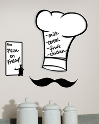 Chef s Hat Dry Erase Peel  Stick Giant Wall Decals RMK1727GM by