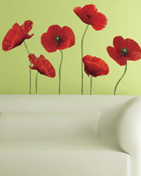 Poppies at Play Peel  Stick Giant Wall Decals RMK1729GM by