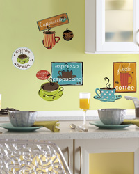 Cafe Peel  Stick Wall Decals RMK1740SCS by