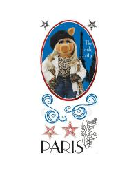 Muppets - Miss Piggy Peel  Stick Giant Wall Decal by