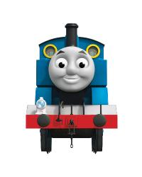 Thomas the Tank Engine Peel  Stick Giant Wall Decal with Hooks by