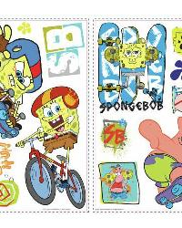 Spongebob Skaters Peel  Stick Wall Decals by
