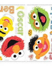 Sesame Street - Scribble Peel  Stick Wall Decals by