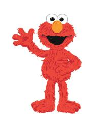 Sesame Street - Elmo Loves You Peel  Stick Giant Wall Decals by
