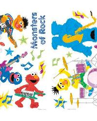 Sesame Street - Rock n Roll Peel  Stick Wall Decals by