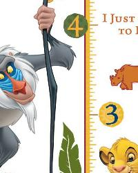 The Lion King Rafiki Peel  Stick Giant Growth Chart by