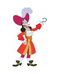 Jake  the Neverland Pirates Captain Hook Peel  Stick Giant Wall Decal by