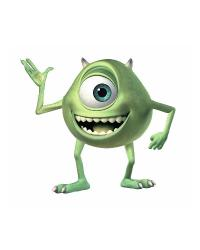 Monsters Inc Giant Mike Wazowski Peel  Stick Wall Decals by