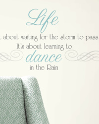 Dance in the Rain Quote Peel  Stick Wall Decals RMK2029SCS by