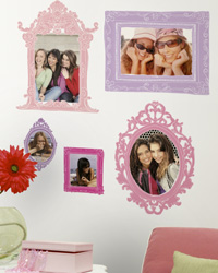 Pink  Purple Frames Peel  Stick Giant Wall Decals RMK2043GM by