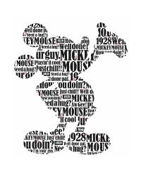 Mickey  Friends - Typography Mickey Mouse Peel  Stick Giant Wall Decals by