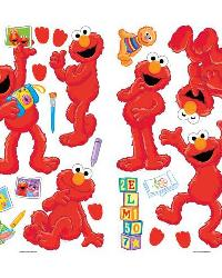 Sesame Street - Elmo-Centric Peel  Stick Wall Decals by