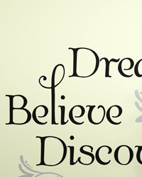 Dream Believe Discover Peel  Stick Wall Decals RMK2082SCS by