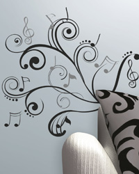 Music Scroll Notes Peel  Stick Wall Decals RMK2083SCS by