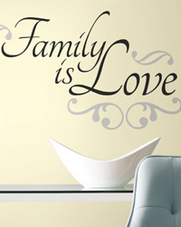 Family is Love Peel  Stick Wall Decals RMK2120SCS by