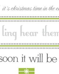 Silver Bells Quote Peel  Stick Wall Decals RMK2130SCS by