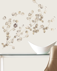 Silver Dollar Branch Add On Peel  Stick Wall Decals RMK2152SCS by