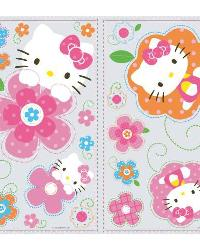 Hello Kitty - Floral Boutique Peel  Stick Wall Decals by