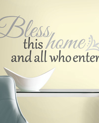Bless this Home Peel  Stick Wall Decals RMK2179SCS by
