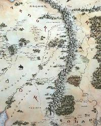 The Hobbit Middle Earth Map Peel  Stick Giant Wall Decals RMK2181SLM by